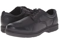 Nunn Bush Waterloo Plain Toe Waterproof Oxford Black Tumbled Men's Plain Toe Shoes