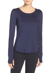 Under Armour Women's 'Fly' Long Sleeve Top Midnight Navy Reflective