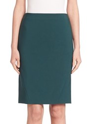 Piazza Sempione Solid Pencil Skirt Green