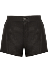 Current Elliott The Colleague Leather Shorts Black