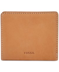 Fossil Emma Rfid Leather Bifold Mini Wallet Tan