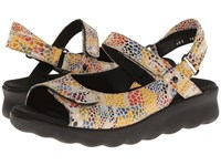 Wolky Pichu Neutral Multi Color Fantasy Women's Sandals Brown