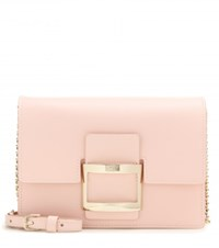 Roger Vivier Icon Micro Leather Shoulder Bag Pink