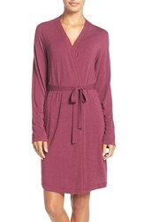 Dkny Women's 'City Essentials' Short Robe Red Heather