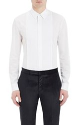 Maison Martin Margiela Men's Pintuck Pleated Voile Shirt White