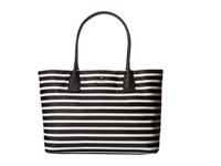 Kate Spade Classic Nylon Catie Black Clotted Cream Tote Handbags