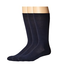 Smartwool New Classic Rib 3 Pair Pack Navy Navy Navy Men's Crew Cut Socks Shoes