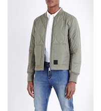 Cheap Monday Trouble Quilted Bomber Jacket Elephant Grey