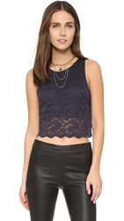 Free People Lace Crop Tank Graphite
