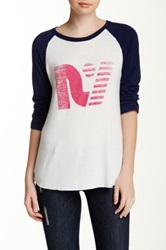 Rebel Yell Graphic Baseball Tee Blue