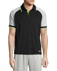 Fila Re Flex Colorblock Polo Shirt Black