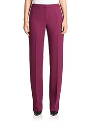 Escada Tovah Virgin Wool Pants Purple