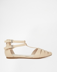 Bronx Tbar Flat Shoes Naturalleather