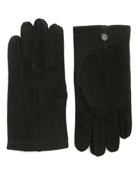 Hackett Myf Black Leather Gloves