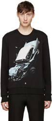 Christopher Kane Black Car Crash Pullover