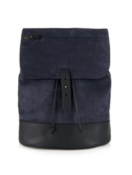 Tomas Maier Suede And Leather Backpack