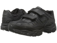 Skechers Afterburn M. Fit Stike On Black Men's Lace Up Casual Shoes