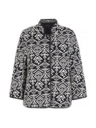Mela Loves London Monochrome Aztec Print Jacket Black White