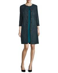Albert Nipon Coat And Sheath Dress Two Piece Set Emerald Green
