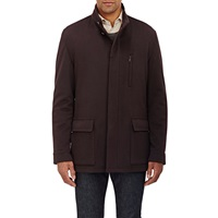 Luciano Barbera Melton Jacket Purple