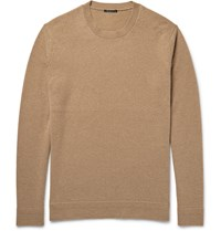 Theory Vetel Cashmere Crew Neck Sweater Brown