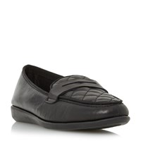 Linea Gazel Quilted Loafers Black