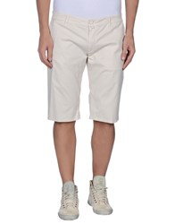 Manuel Ritz White Trousers Bermuda Shorts Men Beige