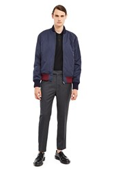 Fred Perry Padded Bomber Jacket Dark Airforce