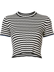 Proenza Schouler Striped Knit Top Black