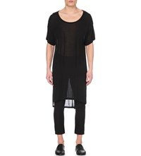Ann Demeulemeester Loose Fit Jersey Top Black