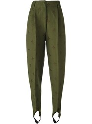 Jean Paul Gaultier Vintage High Waist Stirrup Trousers Green