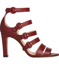 Lk Bennett Celeste Strappy Leather Sandals Red Merlot