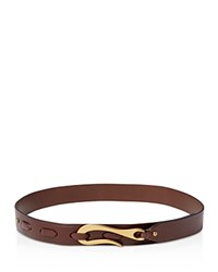 Ralph Lauren Hook Faux Leather Belt Dark Brown