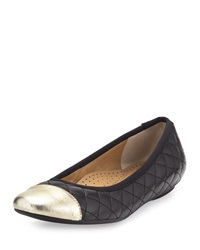 Neiman Marcus Saucy Quilted Leather Flat Black