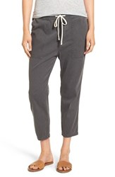 James Perse Women's Relaxed Crop Twill Pants