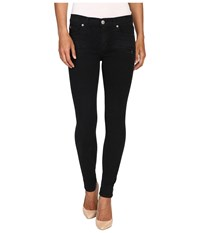 Hudson Roe Mid Rise Ankle Super Skinny In Assailant Assailant Women's Jeans Black