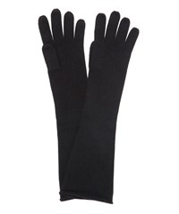 Cash Ca Long Cashmere Knitted Gloves