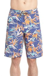 Patagonia Men's 'Wavefarer' Print Board Shorts Piton Paradise Channel Blue