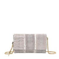 Roberto Cavalli Feather Clutch In Ayers