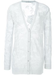 Ermanno Scervino Knitted Jacquard Cardigan White