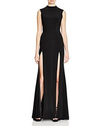 Mac Duggal Double Slit Dress Black