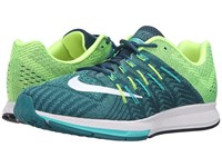 Nike Air Zoom Elite 8 Midnight Turquoise White Clear Jade Volt Men's Running Shoes Blue