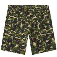 Mr. Bathing Ape Abc Gingham 2 Button American Suit Short Green