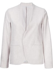 H Beauty And Youth. Collarless Blazer Nude Neutrals