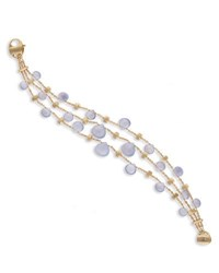 Marco Bicego Paradise Chalcedony Three Row Bracelet In 18K Yellow Gold