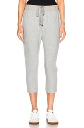 James Perse Slouchy Collage Pants In Gray