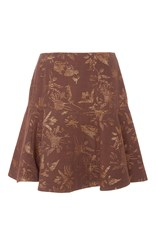 Paule Ka Jacquard Palm Tree Lurex Skirt Print