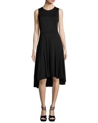 Nanette Nanette Lepore Sleeveless Fit And Flare High Low Dress Black