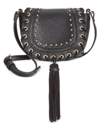 Inc International Concepts Fiora Mini Saddle Bag Only At Macy's Black