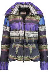 Peter Pilotto Cara Printed Quilted Shell Jacket Purple